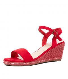 ARIELLE W KF RED MICROSUEDE
