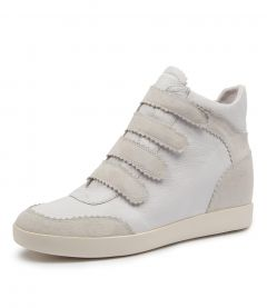 AISHA WHITE SUEDE-LEATHER
