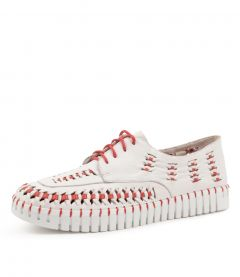 HEPBURN WHITE-RED LEATHER