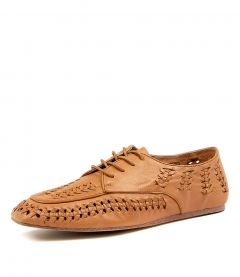 MIDDLE DK TAN LEATHER