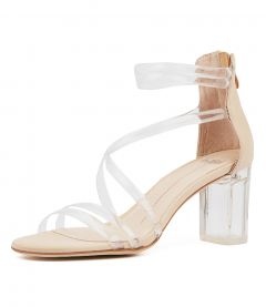 PERSHINA CLEAR NUDE VINYLITE LEATHER