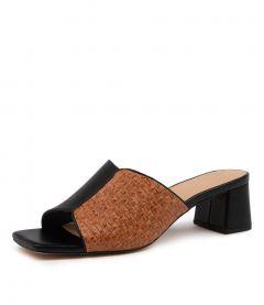 Ava Black-tan Leather