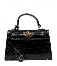 HEDI BLACK CROC SMOOTH