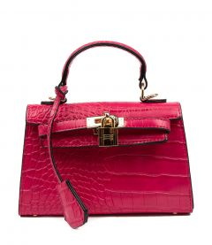 HEDI FUCHSIA CROC SMOOTH