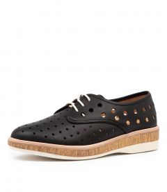 DERBY MIDSOLE CORK RL BLACK LEATHER