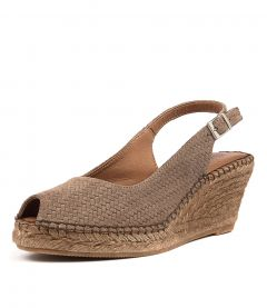 ANA 11 SC TAUPE PRINT SUEDE