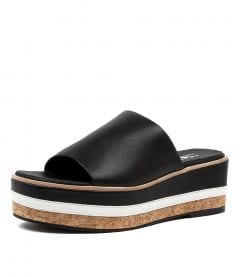 CHRIS WEDGE SS BLACK LEATHER