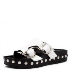 LUCINDA WEDGE SS WHITE LEATHER