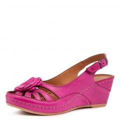 LIZA ST FUCHSIA LEATHER