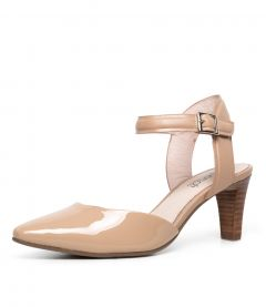 MAJESTA NUDE PATENT LEATHER