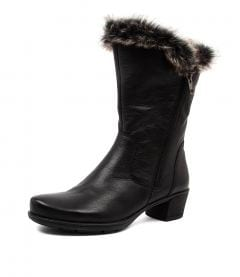 IRIS SU BLACK GREY MULTI LEATHER FUR