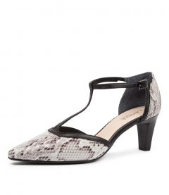 MAI SU WHITE MULTI BLACK SNAKE LEATHER