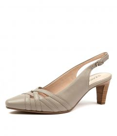 MITZA PALE TAUPE LEATHER