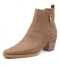 NELLY TAUPE MICROSUEDE
