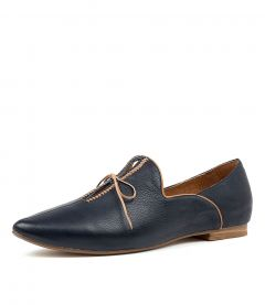 SOMMER NAVY TAN LEATHER