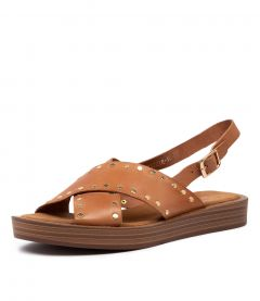 FRIZZIE TO DK TAN LEATHER