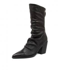 MIKETTE TO BLACK BLACK HEEL LEATHER