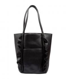 FRILLED TOTE BLACK VEGAN