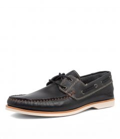 BYRON NAVY LEATHER