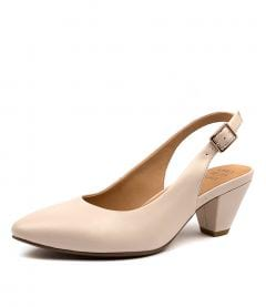 CLAIR W NUDE LEATHER