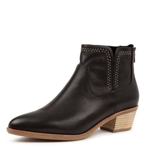 Buy DIANA FERRARI Alored Blk-Natural Heel Ankle Boots online with free shipping