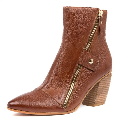Buy DJANGO & JULIETTE Lover Dj Cognac Leather Ankle Boots online with free shipping
