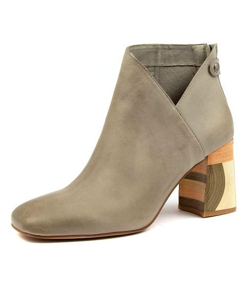Buy DJANGO & JULIETTE Yolly Dj Khaki Leather Ankle Boots online with free shipping