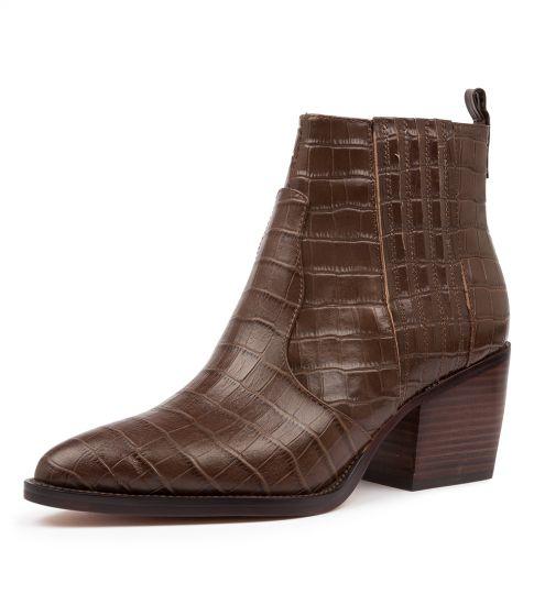 Buy DJANGO & JULIETTE Majesty Dj Choc Croc Ankle Boots online with free shipping