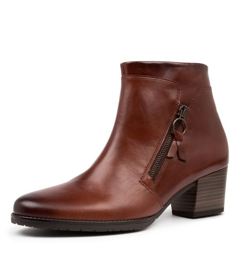 Buy GABOR Layla Sattel Leather Ankle Boots online with free shipping