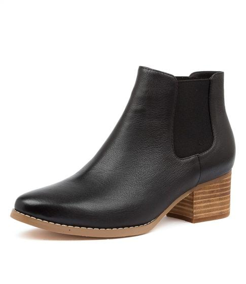Buy I LOVE BILLY Leis Black Leather Ankle Boots online with free shipping