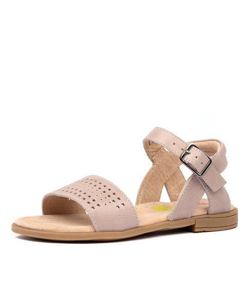 Schutz Dileni Sandal - Brown Nappa Leather Mules - Bamboo