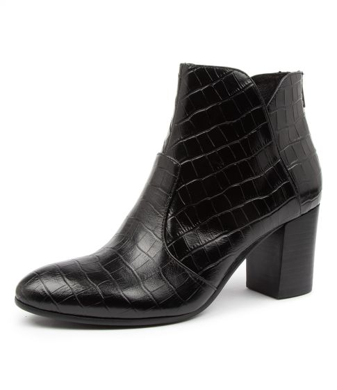 Buy TOP END Upclimb Black Ankle Boots online with free shipping