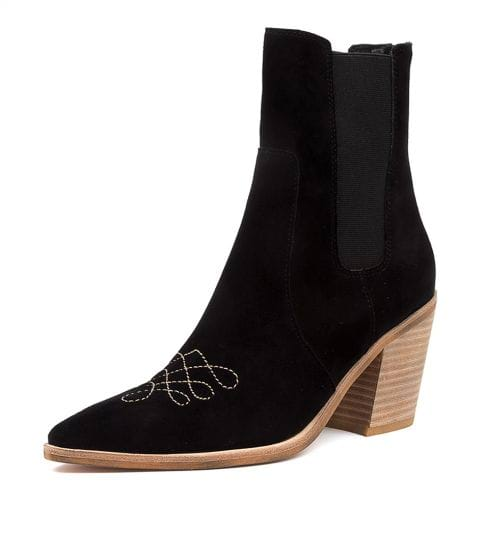 Buy TOP END Molony Black-Beige Ankle Boots online with free shipping