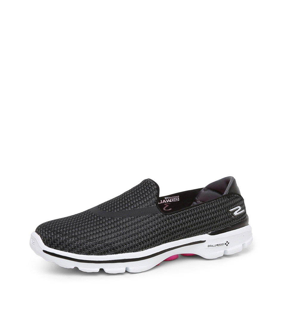 7f443031ee9b2 13980 GO WALK 3 BLACK WHITE FABRIC by SKECHERS - at Styletread