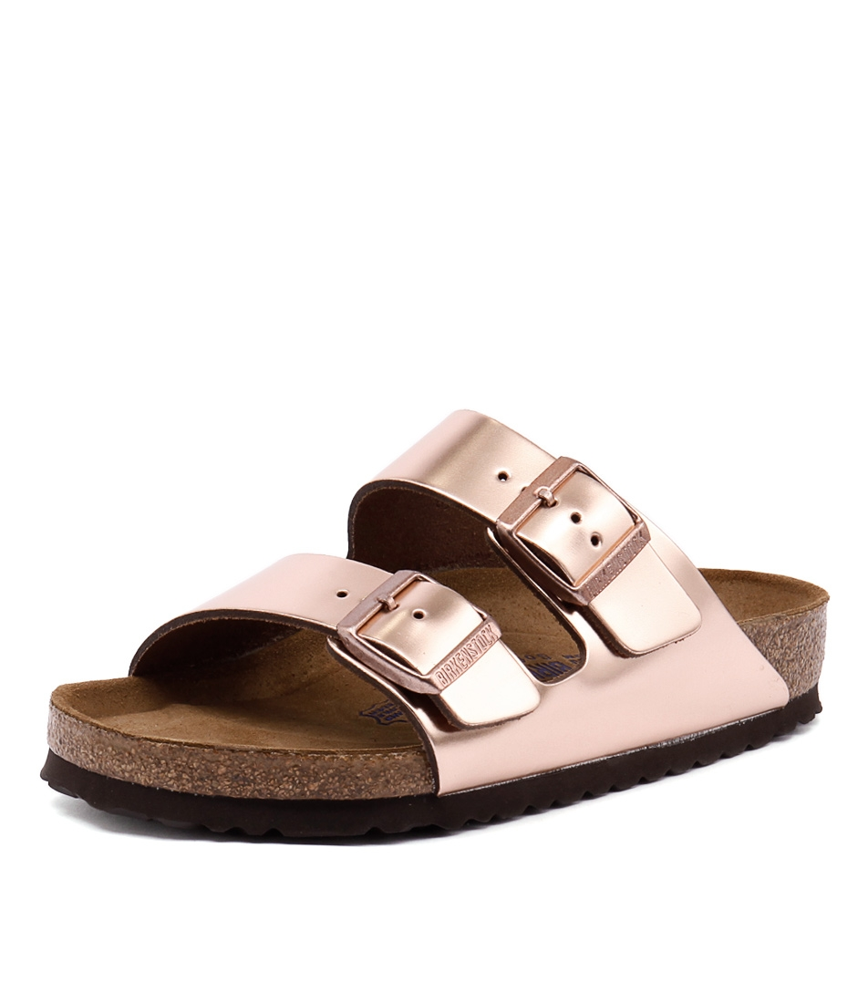90afef88a ARIZONA METALLIC COPPER LEATHER by BIRKENSTOCK - at Styletread