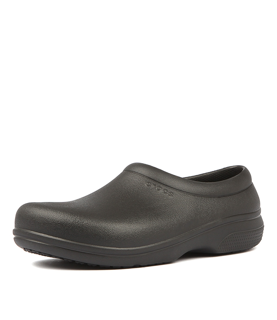 55684ec535527 ON THE CLOCK WORK BLACK SMOOTH by CROCS - at Styletread