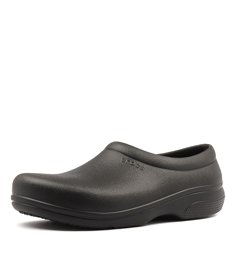 50824e6fd5329 ON THE CLOCK WORK MEN'S BLACK SMOOTH by CROCS - at Styletread