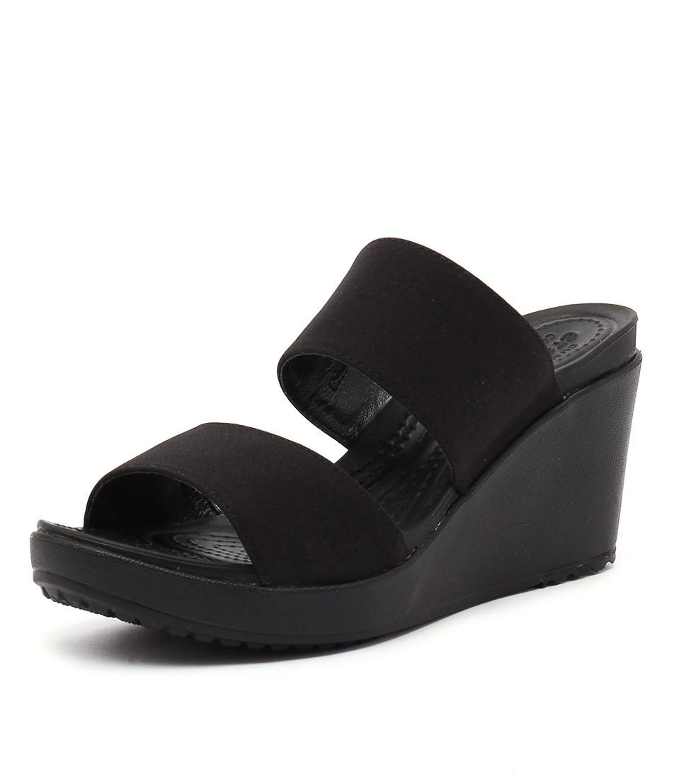 25ec46f5a2 LEIGH II 2STRAP BLACK BLACK SMOOTH by CROCS - at Styletread