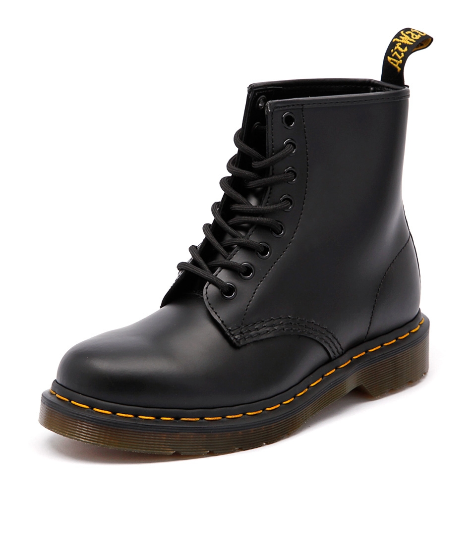 a81a1de42215 1460 8 EYE BOOT BLACK SMOOTH LEATHER by DR MARTEN - at Styletread