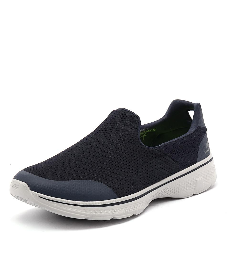 54152 go walk 4 air mesh navy grey smooth