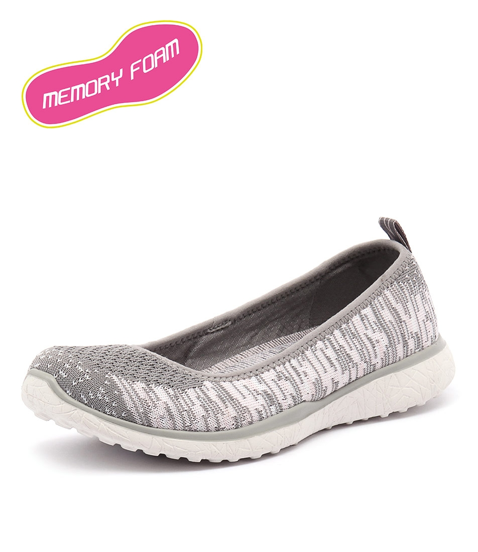 fddfbed4a0ebb 23324 MICROBURST PERFECT NOTE GREY PINK SMOOTH by SKECHERS - at Styletread