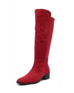 TETLEY RED SUEDE STRETCH