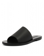 TERESA SLIDE BLACK LEATHER