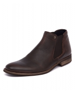 DRAKE DARK BROWN LEATHER
