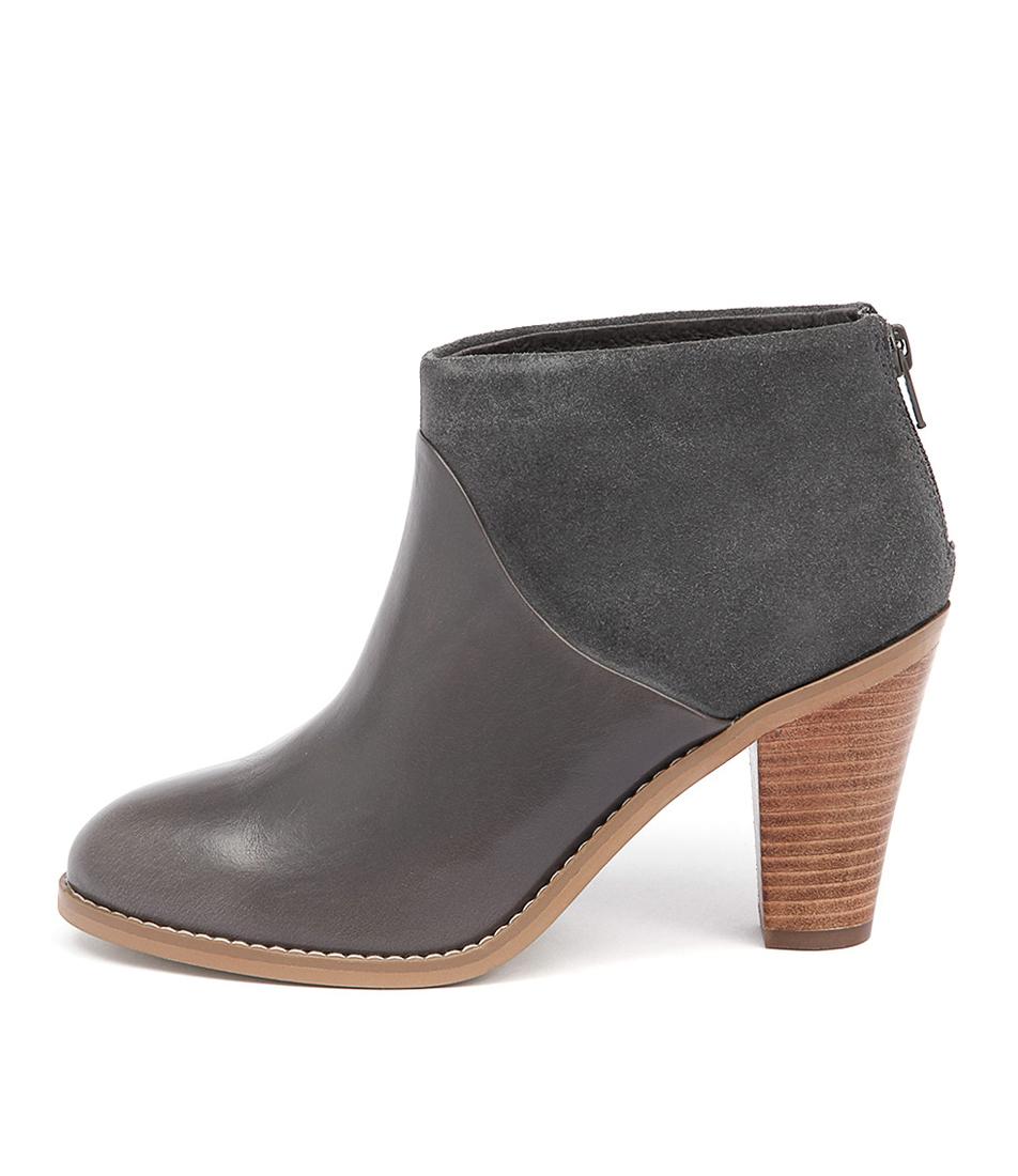 Diana Ferrari Rhinestone Grey Casual Ankle Boots