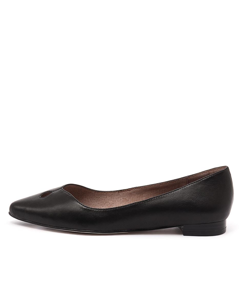 Diana Ferrari Cersai Black Flat Shoes