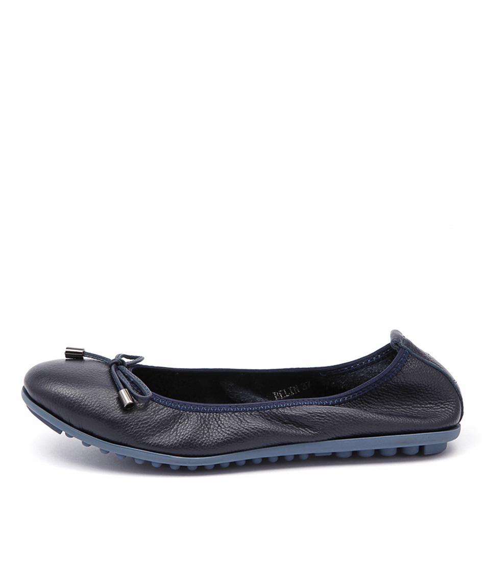 Django & Juliette Belin Navy Casual Flat Shoes