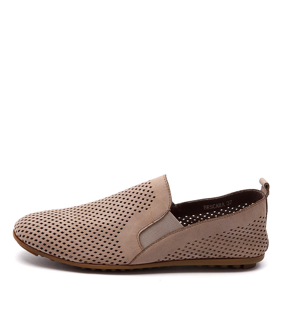Django & Juliette Bescara Latte Comfort Flat Shoes