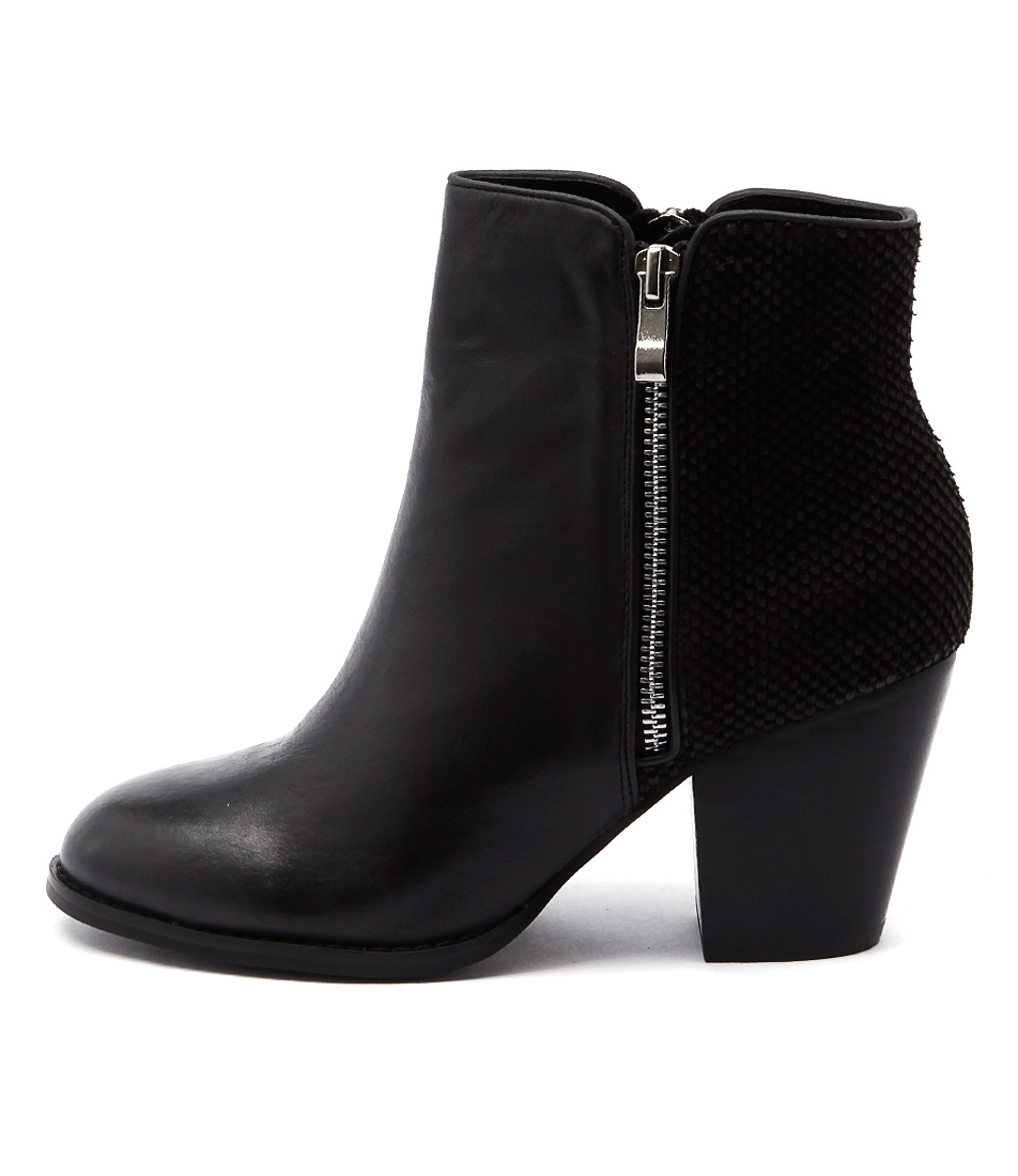 Django & Juliette Roby Black Casual Ankle Boots