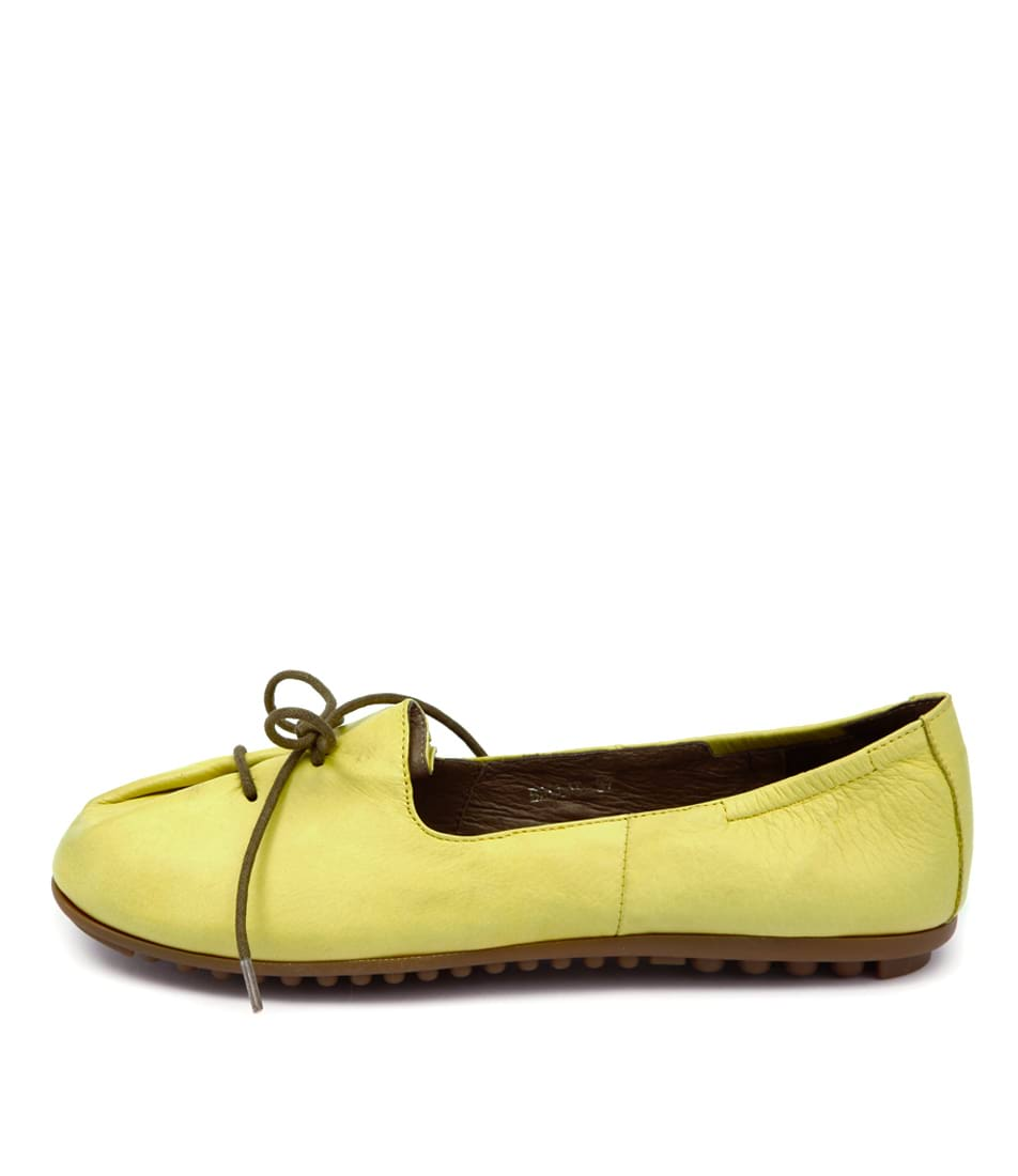 Django & Juliette Ballad Yellow Casual Flat Shoes